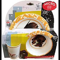 """Набор посуды """"Домашние животные"""" (3 предмета, термостойкий пластик) 49784"""