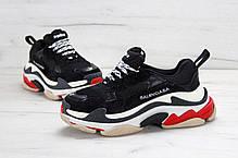 Кроссовки Balenciaga Triple S Black Red топ реплика, фото 2