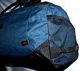 Спортивная дорожная синяя сумка 50*28 см, фото 2