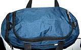 Спортивная дорожная синяя сумка 50*28 см, фото 4