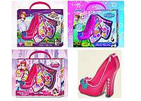 Набор для девочек Детская косметикаТуфелька Frozen / Фрозен -2-х ярусная, кисточки, блестки, румяна