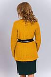 Теплый вязаный женский кардиган - кофта, фото 2