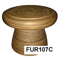 Стол круглый наборной бамбук