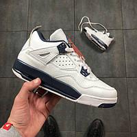 Женские Кроссовки Jordan Retro 4 (IV) White/Blue