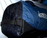 Спортивная дорожная синяя сумка 50*22 см, фото 3