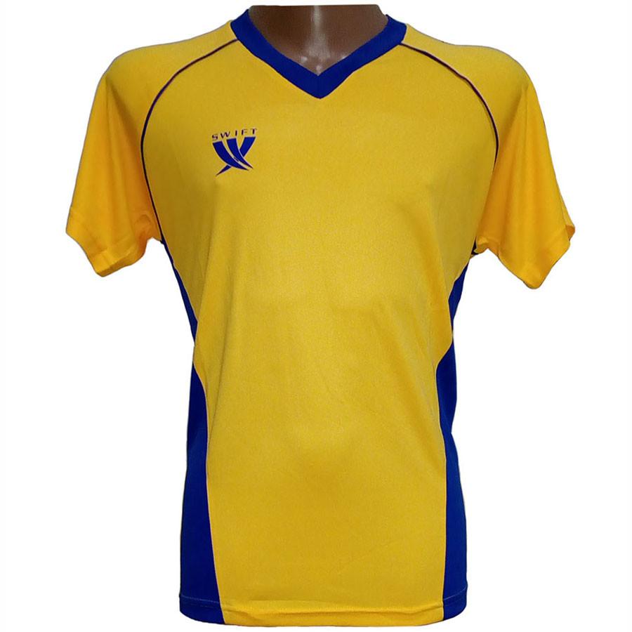 Футболка футбольная SWIFT 7 Sonata Tactel (желто/синяя)