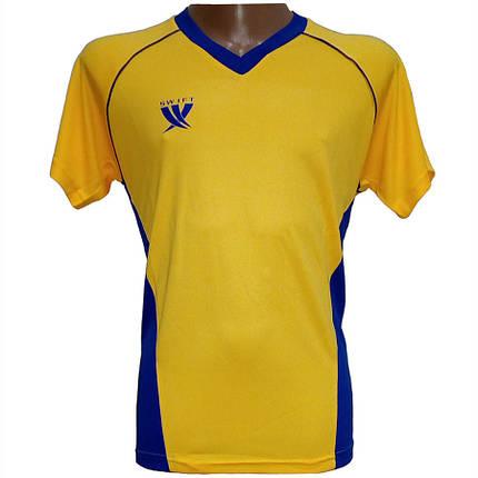 Футболка футбольная SWIFT 7 Sonata Tactel (желто/синяя), фото 2