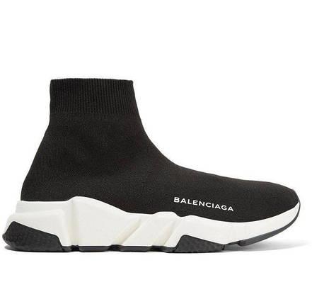 Кроссовки Balenciaga Speed Trainer черно-белые топ реплика, фото 2