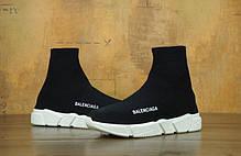 Кроссовки Balenciaga Speed Trainer черно-белые топ реплика, фото 3