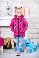 Весенняя  куртка для девочки малиновая
