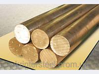 Коло пруток бронзовий пресований БрОФ7-0,2 Діаметр 16мм-180мм ГОСТ 15835-70, фото 1