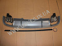 Диффузор заднего бампера Audi A4 B9 стиль Audi S4
