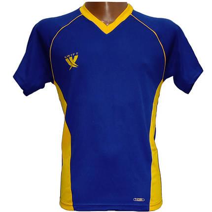 Футболка футбольная SWIFT 7 Sonata Tactel (сине/желтая), фото 2