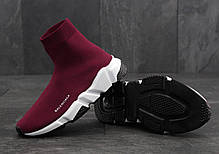 Кроссовки Balenciaga Speed Trainer Wine Red топ реплика, фото 3