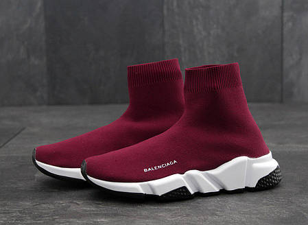 Кроссовки Balenciaga Speed Trainer Wine Red топ реплика, фото 2