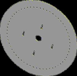 Диск высевающий 40 отв. Ф 2,5 мм. металл толщина 1,2