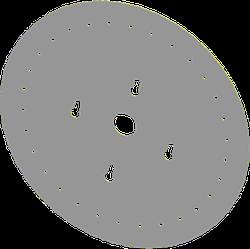 Диск высевающий 30 отв. Ф 4 мм. нержавейка толщина 0,8