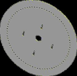 Диск высевающий 30 отв. Ф 4 мм. нержавейка толщина 1,2