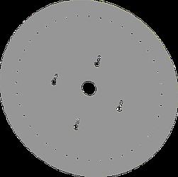 Диск высевающий 40 отв. Ф 3 мм. нержавейка толщина 1,2