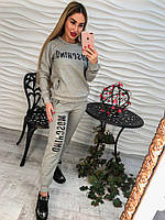 Женский спортивный костюм Москино (черный и серый)