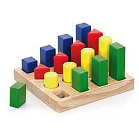 Набор деревянных блоков Viga Toys Форма и размер (51367)