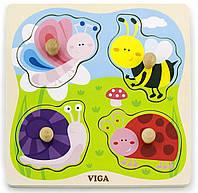 Пазл Viga Toys Насекомые (50131)