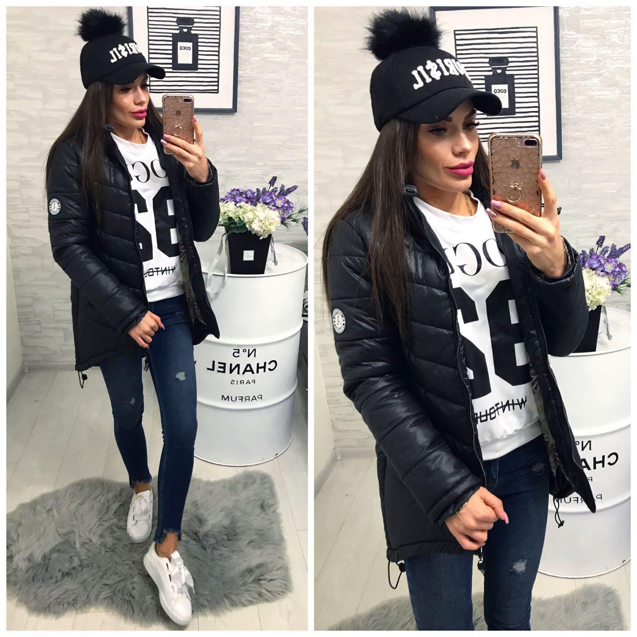 Куртка зимняя, модель 300, цвет - черный
