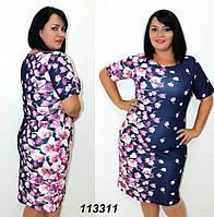 Платья с принтом 1133 , размеры 50-56 , фото 1