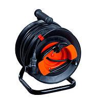 Удлинитель  электропровода У16-40м (2х2,5) выносной розеткой  на катушке без термозащиты, фото 1