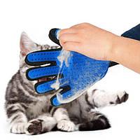 Перчатка для вычесывания шерсти у собак и кошек. TRUE TOUCH!