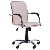 Кресло Самба-RC Хром белый Неаполь N-34 без канта TM AMF