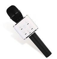 Беспроводной микрофон караоке bluetooth Q7 с чехлом черный, фото 1