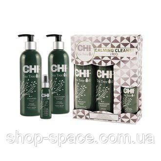 Набор для волос с маслами чайного дерева CHI Tea Tree Oil Calming Cleanse Trio