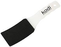 Пилка для педикюра Kodi professional изогнутая (пластиковая белая ручка) 100/180