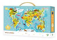 "DoDo Пазл ""Карта мира Животные"""
