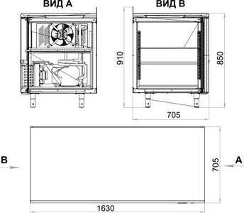 Стол холодильный Polair TM3GN-G (-2...+10С), фото 2
