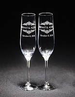 Свадебные бокалы, именная гравировка | модель 25