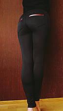 Лосины женские  с кожаными вставками №31/2 (норма), фото 3