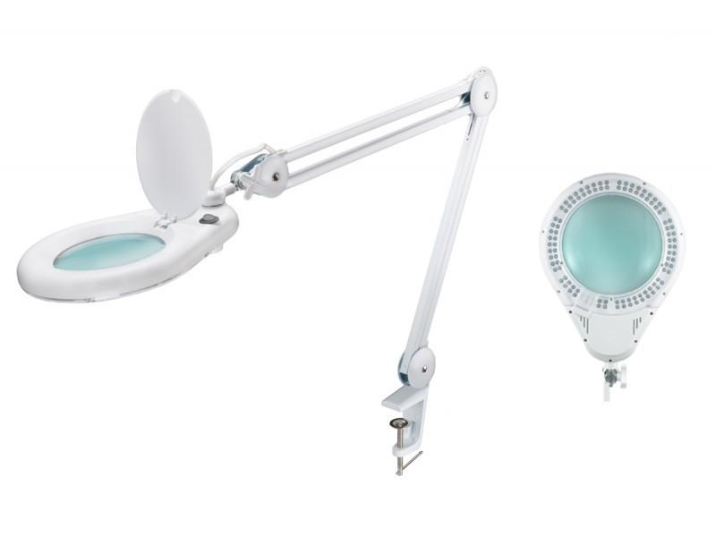 Лампа-лупа мод. 8066-5D LED (5 диопт.), крепление к столу