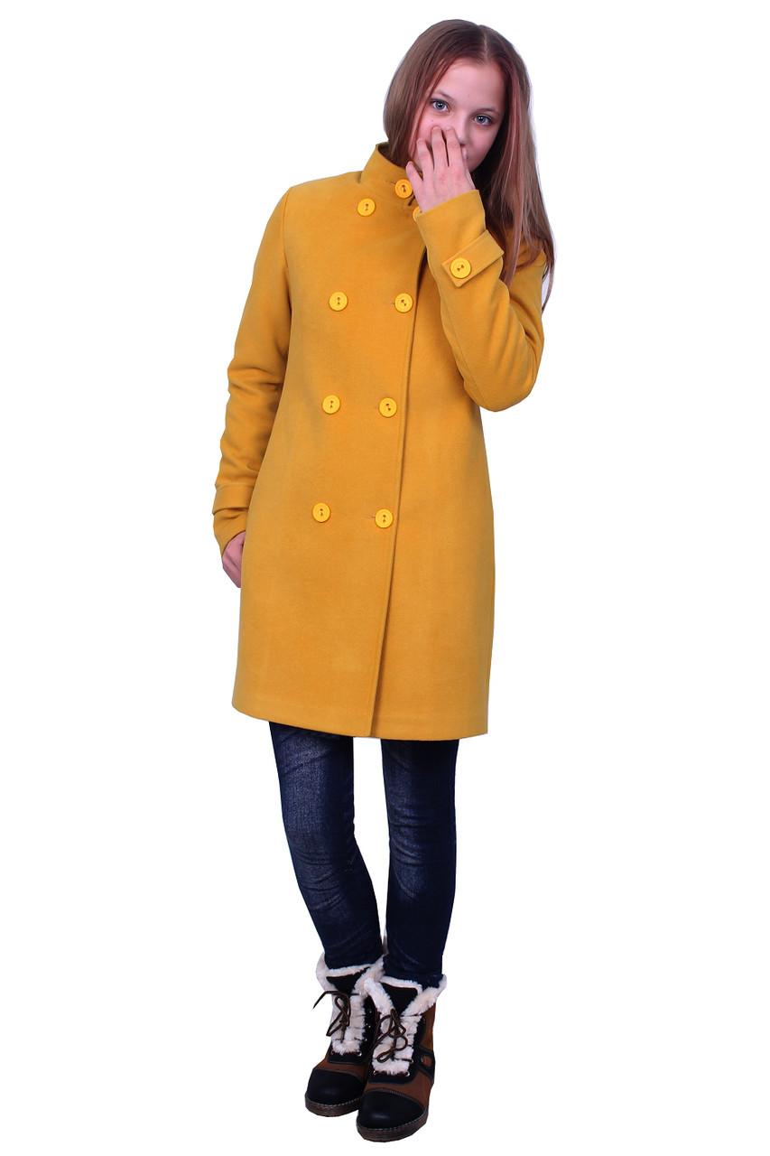 """Пальто для дівчинки з шарфом кашемір м-1073 зростання 140 146 152 158 164 тм """"Попелюшка"""""""