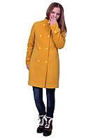 Пальто для девочки с шарфом  кашемир  м-1073 рост 140 146 152 158 164, фото 1