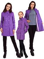 Пальто для девочки с шарфом  кашемир  м-1073 рост 140-164, фото 1