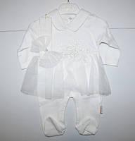 Человечек с фатиновой юбкой для девочек р-р 3-9 месяцев
