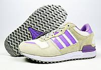 Белые, серые женские кроссовки для бега, занятий спортом Adidas ZX 700 Originals (модные новинки весна, лето), фото 1