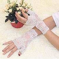 Перчатки митенки гипюровые, фото 1