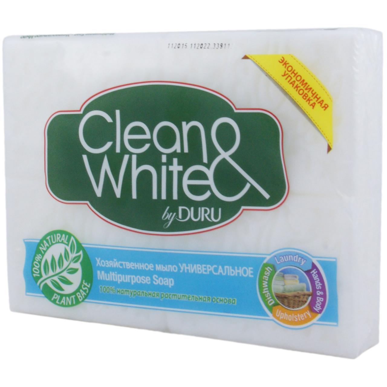 Дуру / Duru clean&white хозяйственное мыло 4х125 г