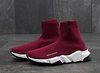 Женские кроссовки Balenciaga Knit Sneakers Bordo