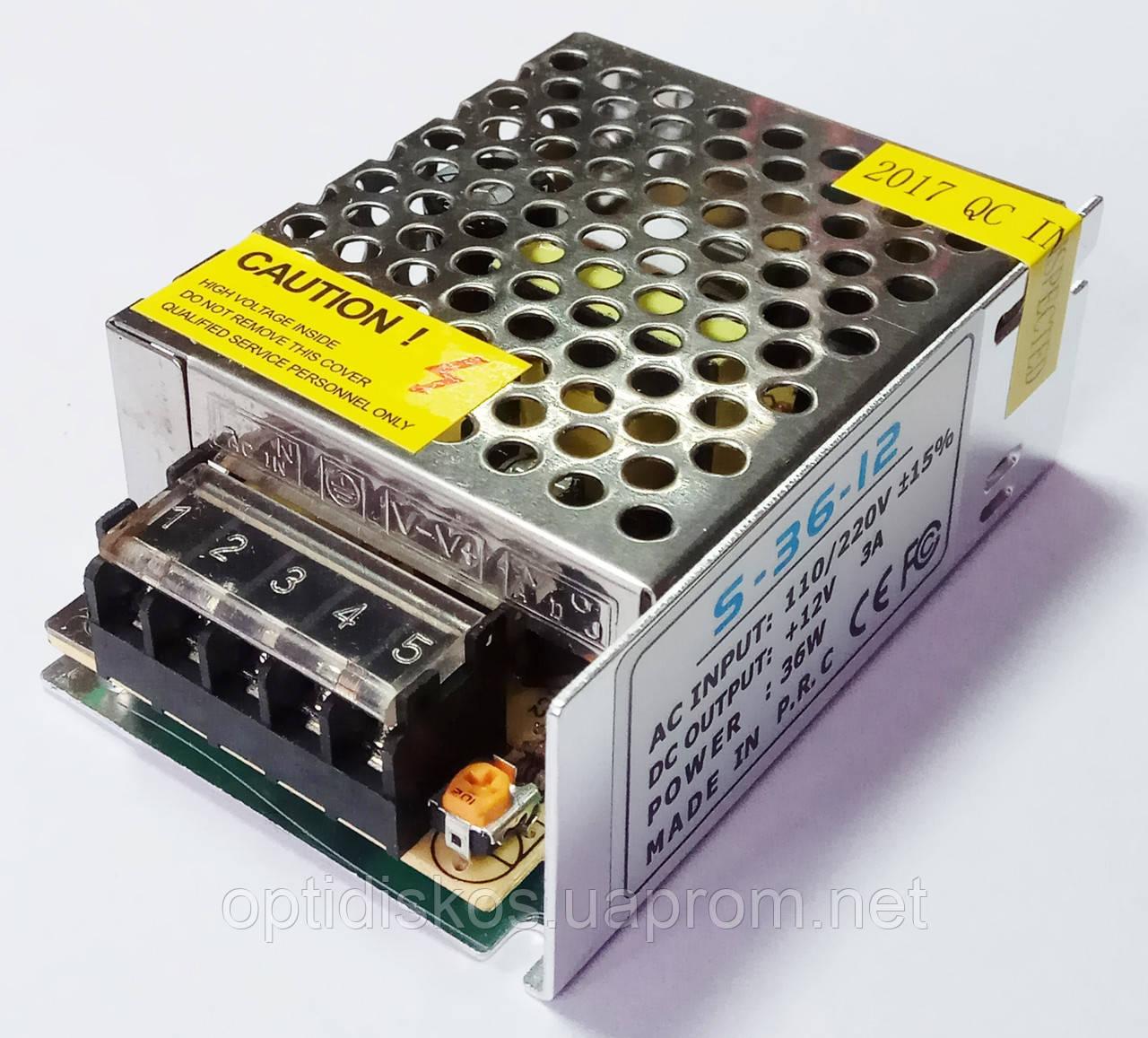 Адаптер/блок питания UKC металличекий 12V, 3A