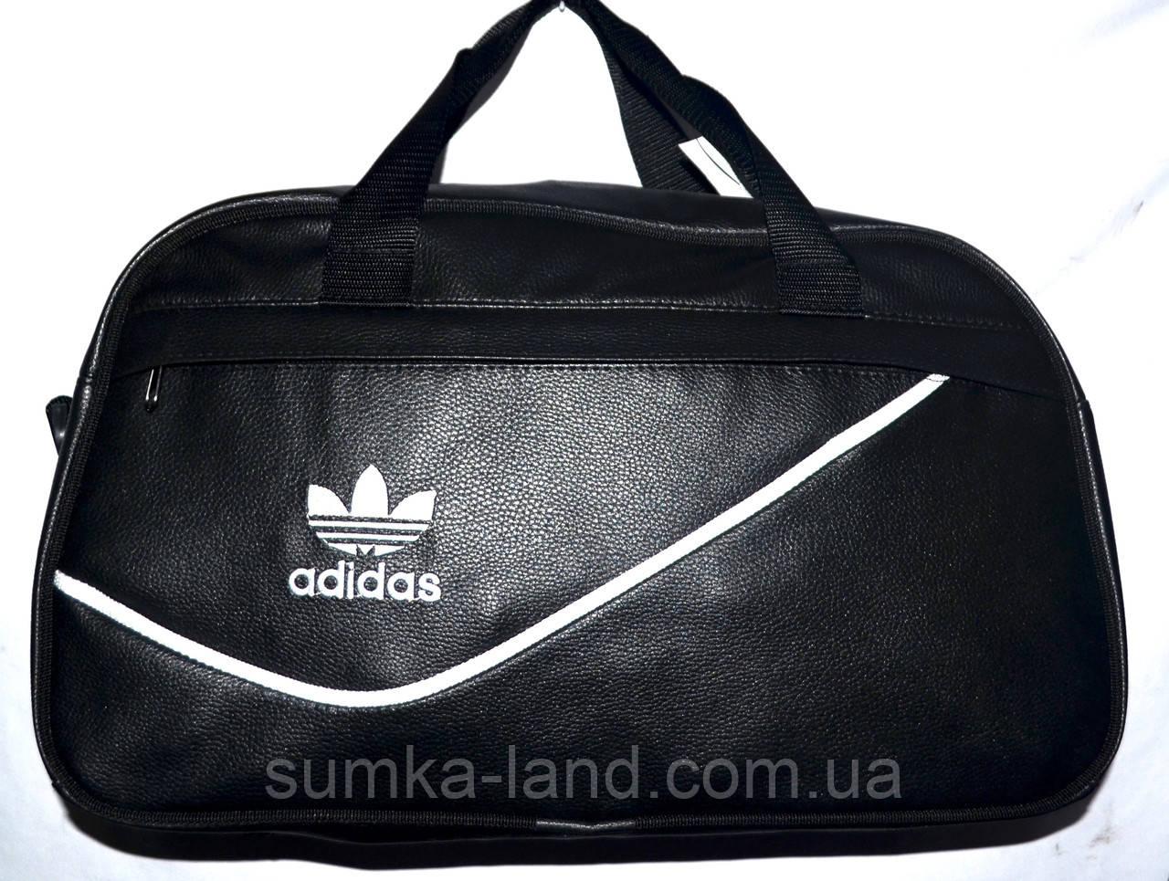 d05290ec9918 Черная сумка спортивная универсальная кожзам Adidas 48*27: продажа ...