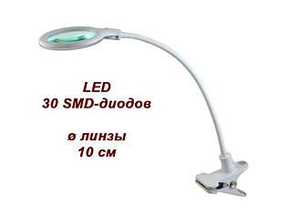 Увеличительная Лампа-лупа настольная с прищепкой мод. 2014 LED 3D для косметолога, для маникюра, для рукоделия